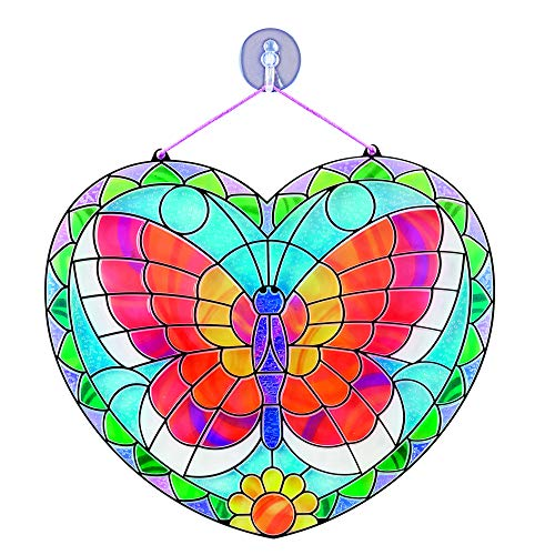 Melissa & Doug Stained Glass - Butterfly | Arts & Crafts | DIY | 5+ | Gift for Boy or Girl