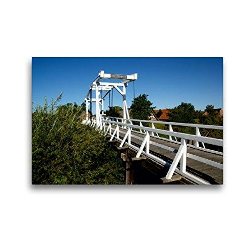 CALVENDO Premium Textil-Leinwand 45 x 30 cm Quer-Format Hogendiekbrücke Steinkirchen, Leinwanddruck von Martina Fornal