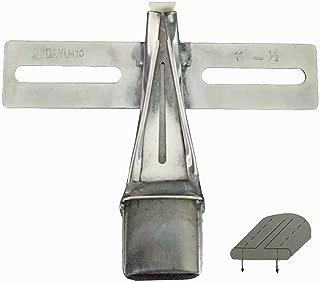 LNKA Industrial Foot DAYUN 410 Two Sides Upward Reverse Belt Loop Binder Folder fit for 2 Needle Sewing Machine (Tape Size:1 Finish Size:1/2)
