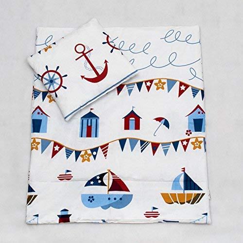 2 pcs Junior Parure de lit de lit pour bébé - 150 x 120 cm Housse de couette et taie d'oreiller - Motif 16