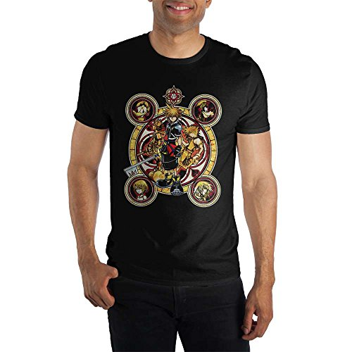 Bioworld Kingdom Hearts Sora Men's Black T-Shirt Tee Shirt-Small