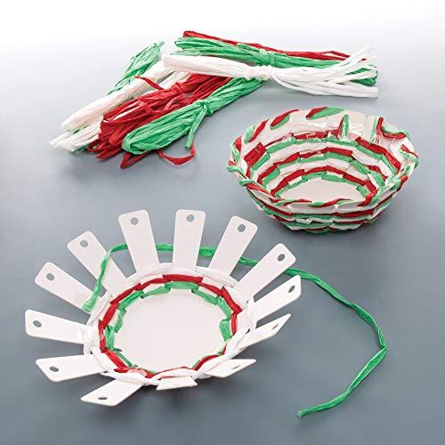 Kit Tessitura Cesto Natalizio Baker Ross (confezione da 4) Attività Creative Festive
