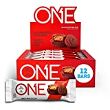 ONE Protein Bars, Peanut Butter Cup, Gluten Free Protein Bars with 20g Protein and only 1g Sugar, Guilt-Free Snacking for High Protein Diets, 2.12 oz (12 Pack)