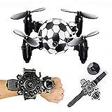 QZY DH-880 0.3MP Caméra WiFi FPV Pliable Mini Drone Football Forme Contrôleur Montre Altitude Tenir RC Drone Quadcopter,With0.3Mpcamera