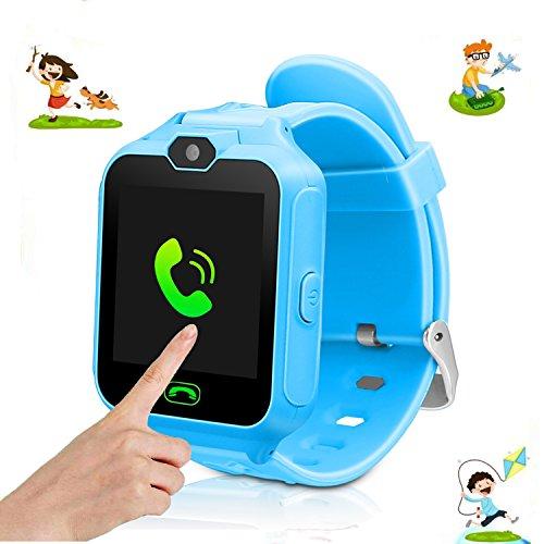 Orologio e GPS tracker per bambini, ragazze e ragazzi, ideale come regalo di compleanno o per Natale, con funzione fotocamera e torcia