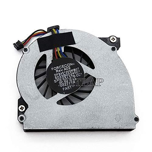 DBTLAP Ventilador de la CPU del Ordenador portátil para HP EliteBook 2560 2570 2560p 2570p MF60090V1-C130-S9A 651378-001 DFS451205MB0T FA5T 6033B0024501 MF60120V1-C230-S9A