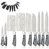 8 unids Cuchillos de cocina Juego de herramientas 8 '' Cuchillo Almacenamiento Chef Picado Cuchillo Santoku Cuchillo Peces de carne de cocción Juego de herramientas de cuchillas Tang Full Tang Cuchill