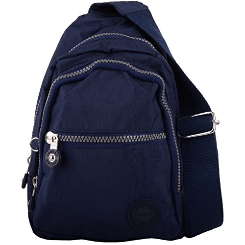 Mens/Womens Small Nylon Backpack/Ruck Sack/Shoulder Bag - Navy
