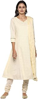 STOP by Shoppers Stop Womens Notched Neck Embroidered Salwar Suit