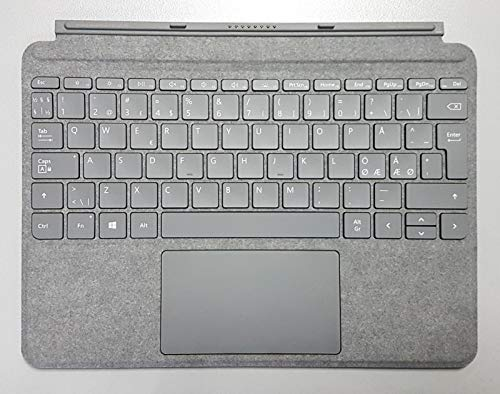 Microsoft Surface Go Signature Type Cover Alcantara für Surface Go, Surface Go 2 -Tastaturbelegung: QWERTY -PAN-Nordic (Platin Grau)