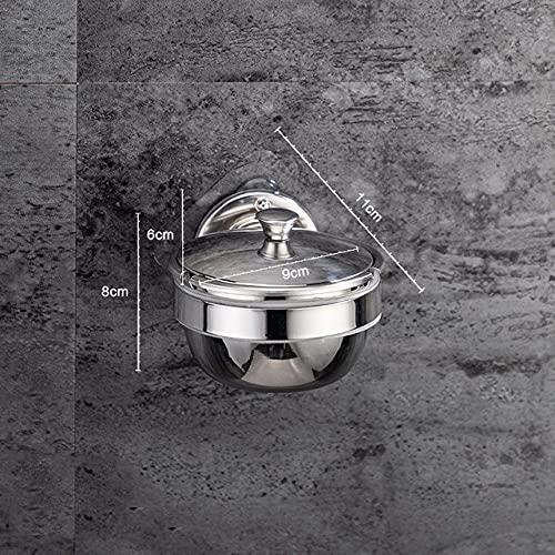 PIANYIHUO ceniceroCenicero de acero inoxidable montado en la pared Baño Puch Caja de ceniza de personalidad creativa con tapa, gris claro