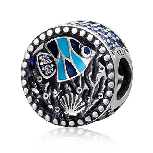 Fisch Charm 925Sterling Silber Muschel Charme Coral Charm Ocean Charm für Pandora Charme Armband