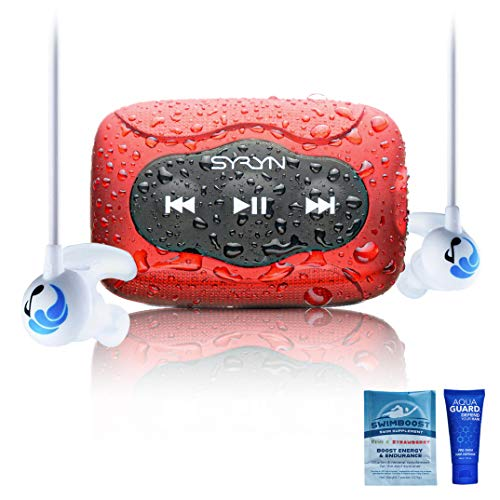 SYRYN 8 GB Waterproof Music Player (Compatible with iTunes Files) and Swimbuds Sport Headphones