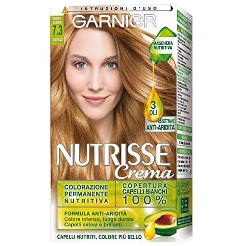 Garnier Tinta Capelli Nutrisse, Colorazione Permanente Nutritiva, Biondo Dorato Miele