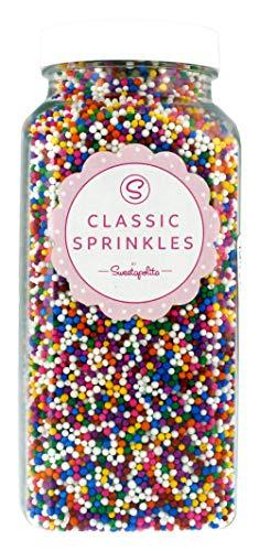 Sweetapolita Sprinkles - Rainbow Classic Nonpareils, 16 Ounce || Gluten-Free, Vegan, Vegetarian, Kosher