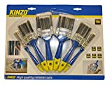 KINZO 871125279438 - Paint Brush Set - Blue/Silver