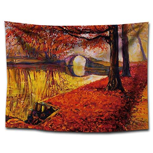 qwer Arazzo Lenzuolo Decorativo Murale d'Arte Attaccatura a Muro Naturale ArazziLandscape Oil Painting Tapestry Decorative Supplies Home Painting @75 * 100cm