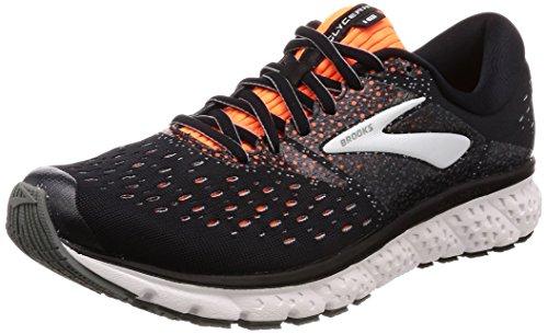 Brooks Mens Glycerin 16 Running Shoe - Black/Orange/Grey - 2E - 8.5