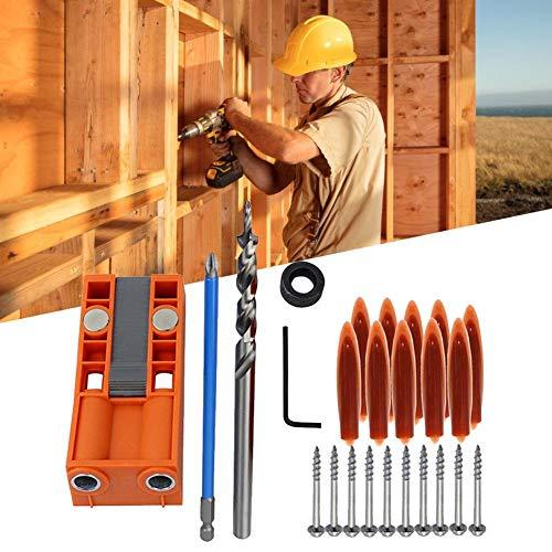 25 stuks belangrijkste gereedschapsset tool houtbewerkingsgereedschap schuin gatzoeker meubels stansen hout boren
