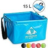 Outdoor Faltschüssel 15 Liter   Faltbare Camping Waschschüssel aus langlebigem Planen Gewebe ...