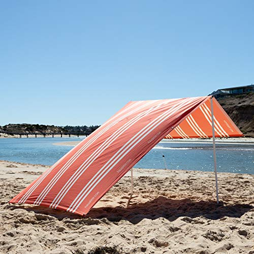 Beach Shade by Hau'alele - UPF50+ Premium Durable A Frame Portable Beach Sun Shade Canopy Tents for Family | Easy Set Up, Wind Resistant | Beach Canopy Sun Shelter Stakes & Carry Bag