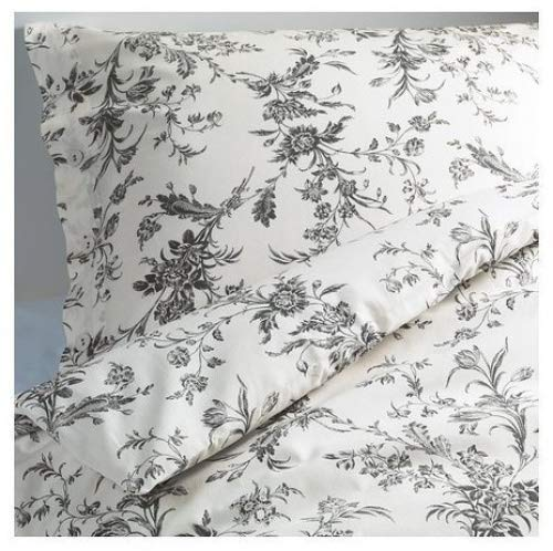 IKEA White and Grey Queen/Full Duvet Cover and 2 Pillow
