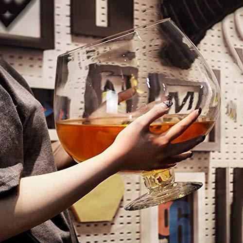 Copa de vino Extra Large Enorme Gran Capacidad del Vidrio de Cerveza del Vino por un Bares HMLIFE (Size : 2000ML)