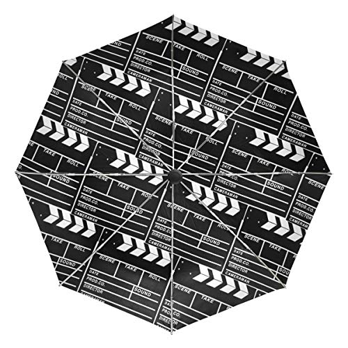 Kleiner Reiseschirm Winddicht Outdoor Regen Sonne UV Auto Compact 3-Fach Regenschirm Abdeckung - Film Movie Cut Action Szene Slateboard