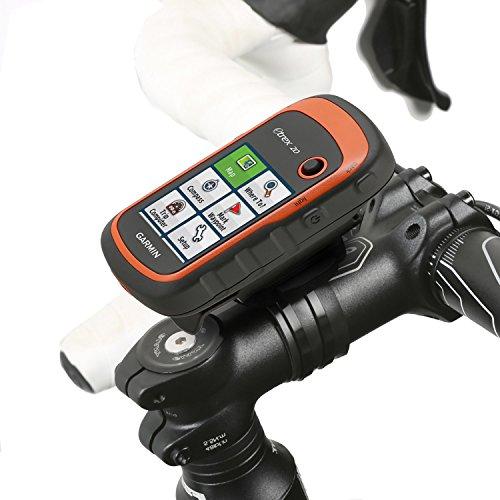Wicked Chili Fahrrad Halterung für Garmin eTrex, Dakota, Oregon, Approach, Astro, GPSMAP (passgenau, QuickFix, wiederverschließbare Kabelbinder, Made in Germany) schwarz