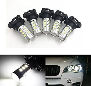 GFJMC 2 Xenon White Error Free 15-SMD PY24W 5200s LED Bulbs for BMW E90/E92 3 F10/F07 5 Series E83/F25 X3 E70 X5 E71 X6 Z4