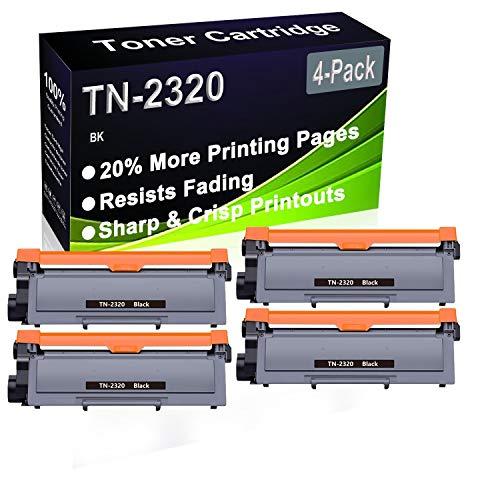 Cartucho de impresora láser compatible con DCP-L2500D, DCP-L2520D, DCP-L2520DW, DCP-L2540DN (alta capacidad) para Brother TN2320 TN-2320 (4 unidades)