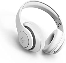 SoMi Bluetooth Headphones with Built-in Mic, Hi-Fi Stereo, Wireless Headphones Overhead Headset, On Ear, Adjustable, Foldable + Wired Mode, White