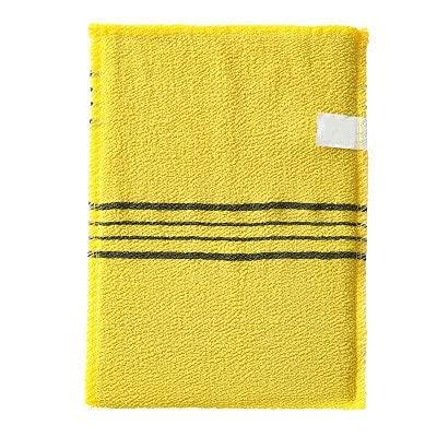 1pc4pcs Doppelseitiges Tuch Peeling Bad Waschlappen Körperpeeling Duschtuch Portable für Erwachsene Grobkorn Handtuch-1PC Yellow-one size