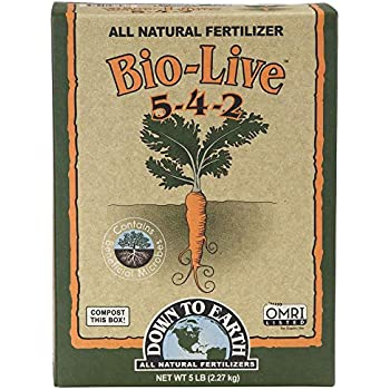 Down to Earth Organic Bio-Live Fertilizer Mix 5-4-2, 5 lb