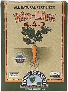 Down To Earth Organic Bio-Live Fertilizer Mix 5-4-2, 5 lb