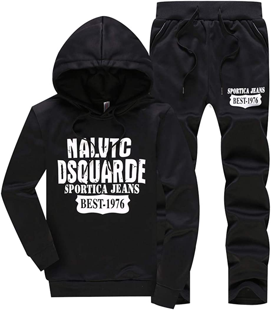 watersouprty Mens Long Beach Mall Casual Tracksuits Overseas parallel import regular item 2 Pieces Sports Jogging Sets