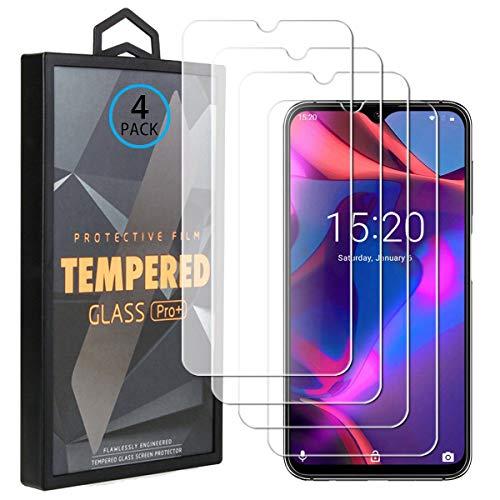 Ycloud 4 Pack Vidrio Templado Protector para UMIDIGI One MAX, [9H Dureza, Anti-Scratch] Transparente Screen Protector Cristal Templado para UMIDIGI One MAX