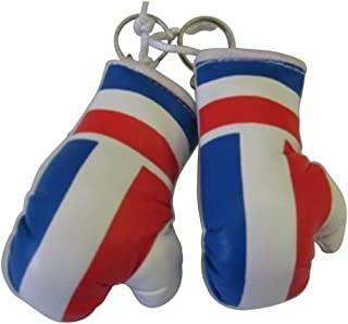 Flag Mini Small Boxing Gloves to Hang Over Car Automobile Mirror – Europe