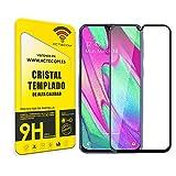 actecom Protector Pantalla Compatible con Samsung Galaxy a40 Completo 3D 5D Negro Cristal Templado