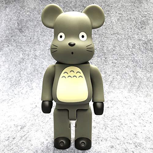 CQ Bearbrick Figura!Mi Vecino Totoro Modelo Figura de acción de la estatuilla/la decoración del hogar Dormitorio Ilustraciones de 28cm Serie Bearbrick Toys