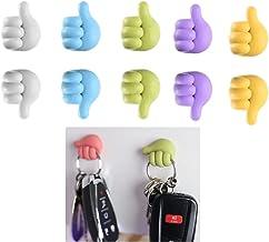 Duimvorm multifunctionele cliphouder, Creatieve zelfklevende clips voor kabelhouders voor auto-, kantoor- en thuiskabelbeh...