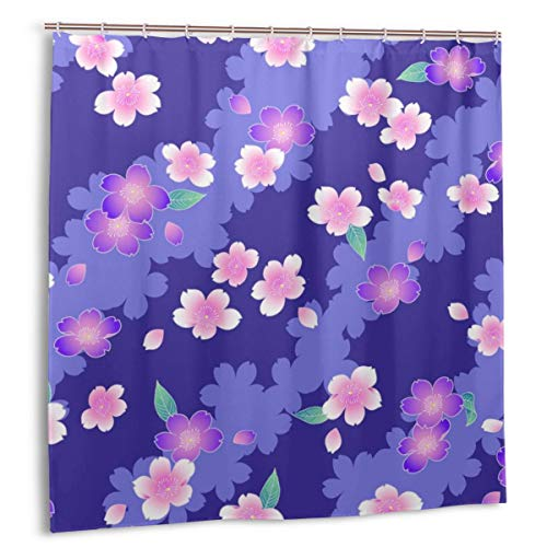 kThrones Cortina de baño,Impermeable,Se USA para un Kimono Esta Pintura continúa repetidamente,Cortina de Ducha de con Ganchos 150cmx180cm