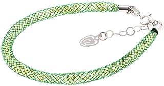 Bracciale Verde in Argento 925 con Cristalli Luminosi Collezione Tennis Colorazione : Verde Lime Scuro 4G