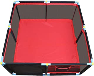 Playpen Baby Play Yard  Portable Kids Safety Activity Center Home Indoor Panel Anti-Fall  Red 128x128x66cm