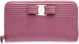 Salvatore Ferragamo Quilted Vara Long Zip Around Wallet (One Size, Griotte)