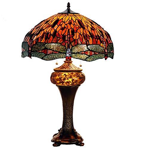 Lampada da tavolo creativa 18'Dragonfly figlio e lampada tiffany vintage classico artista salotto lampada da tavolo lampada da comodino comodino casa ufficio lettura famiglia