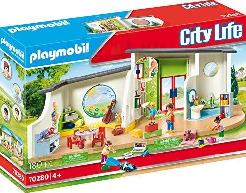 PLAYMOBIL City Life 70280 KiTa Regenbogen mit Licht- und Soundeffekt, ab 4 Jahren
