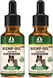 Chinoxia Hemp Oil Dogs Cats,Omega Rich 3, 6 & 9-Help Separation Anxiety, Stress Relief, Seizures, Chronic Pains,Joint Health - 2 Pack