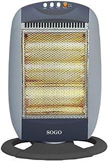 Sogo CAL-SS-18223 Radiador Halógeno 3 tubos, 1200 W, Otro, Gris