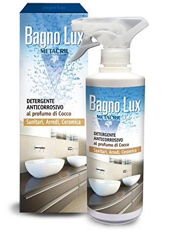 Detergente ANTICORROSIVO per il Bagno, sanitari, ceramiche, rubinetterie, vasca e doccia, e arredi (nota aromatica al cocco). BAGNO LUX 500ml - SPEDIZIONE IMMEDIATA